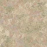 York Wallcoverings TB4318 Charlotte Dogwood Texture Wallpaper, Tan, Lilac, Grey/Green, Light Russet