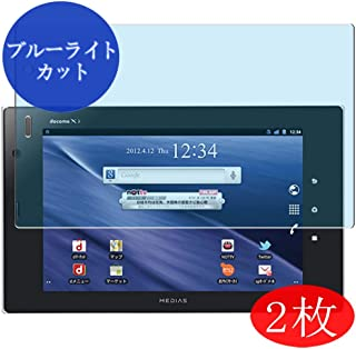 【2 Pack】 Synvy Anti Blue Light Screen Protector for NEC MEDIAS TAB N-06D docomo 7