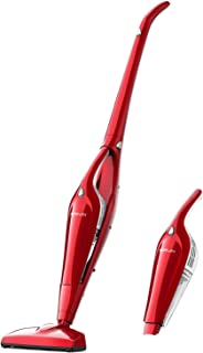 Cordless Vacuum, 2 in 1 Stick Vacuum Cleaner, Handheld Vacuum with 25.6V Li-ion Rechargeable Battery, HEPA Filtration for Carpet Hard Floor Dog Cat Pet Hair Dust Cleaning