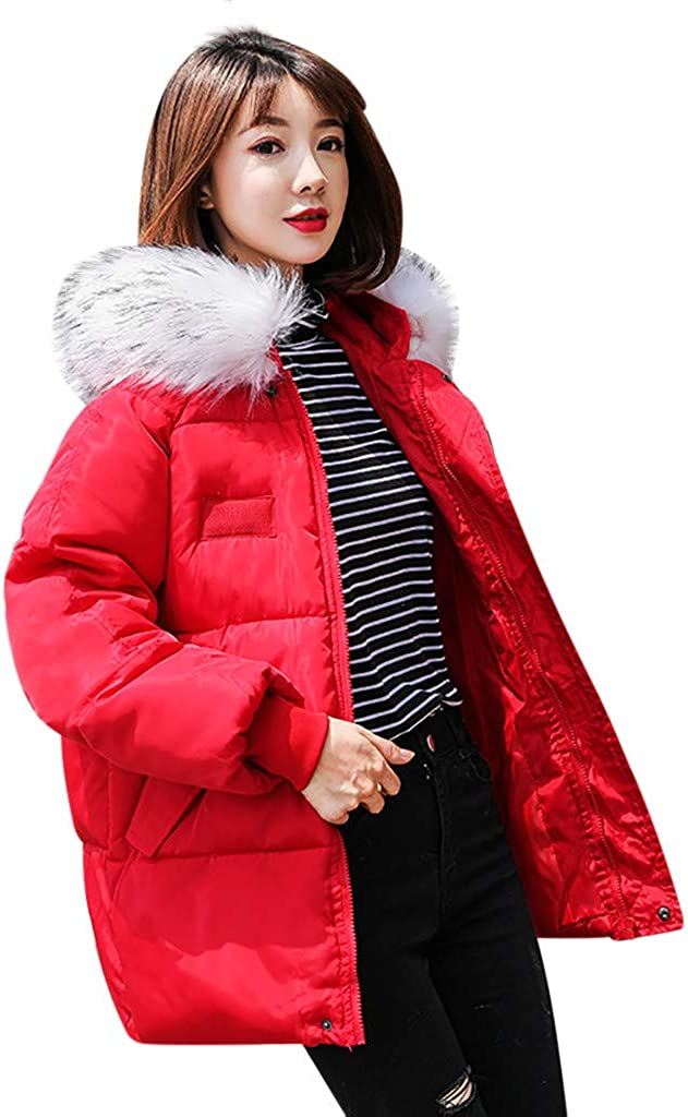 NREALY Chaqueta Womens Winter Warm Loose Coat List price Thick Hooded Manufacturer regenerated product