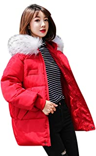Ros1ock Solid Color Down Jackets Women Thicken Warm Outwear Outdoor Casual Hooded Loose Overcoat