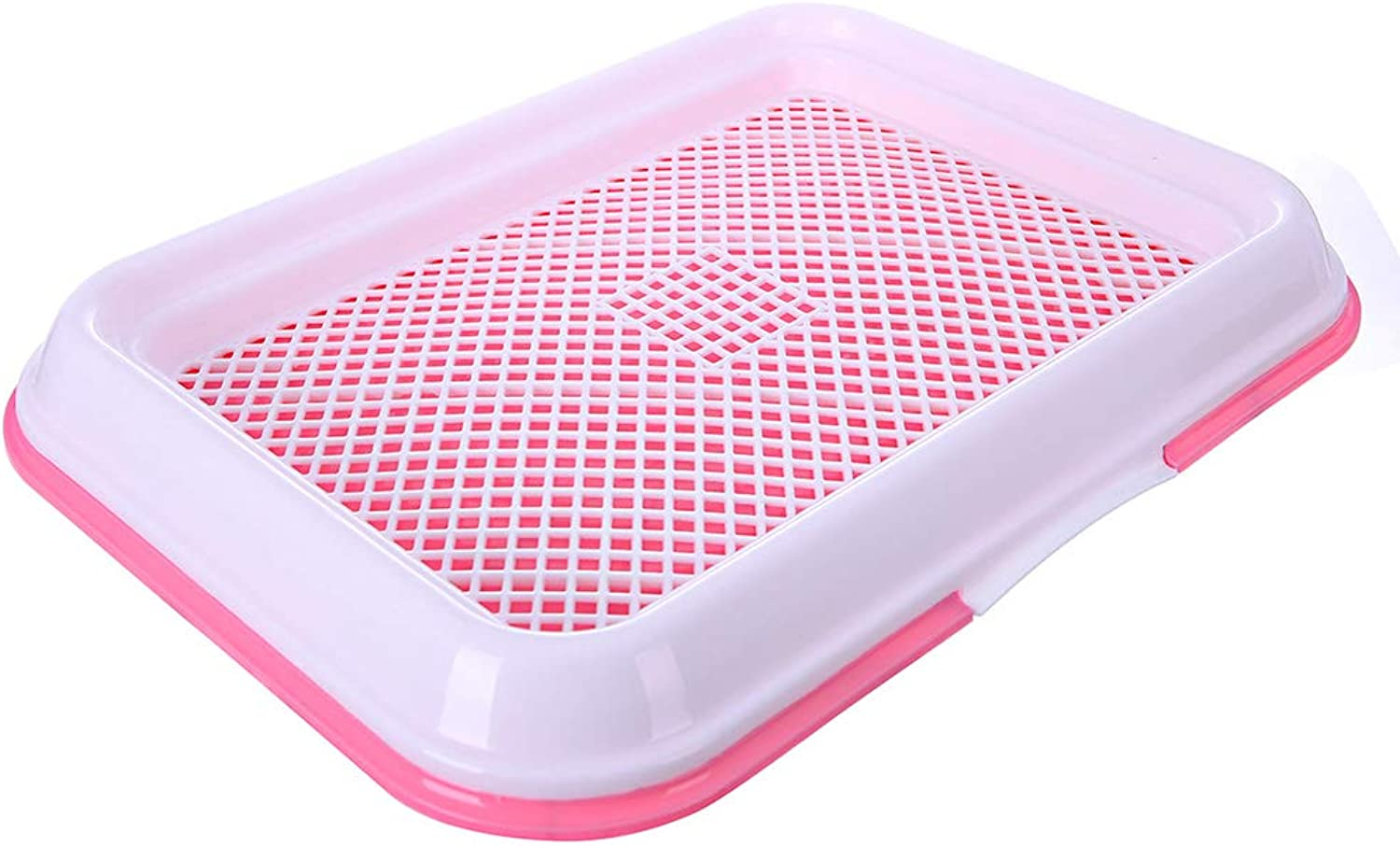 North cool Net Format Pet Cat Dog Toilet, Pet Potty Urinal Small Large Dog Teddy Toilet 34  47  5cm (color   Pink)