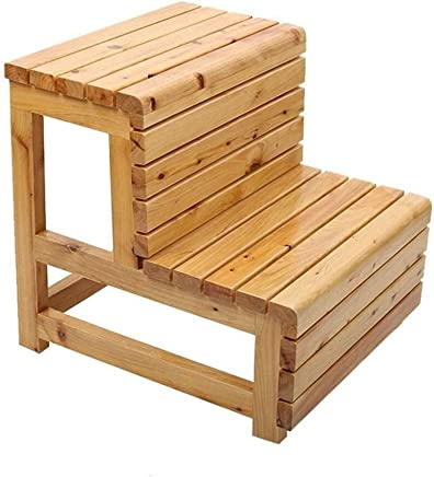 Wtbew-u Step Stools  Wooden Ladder Steps Multi-function Stairway Chair For Child Adult For Bathroom