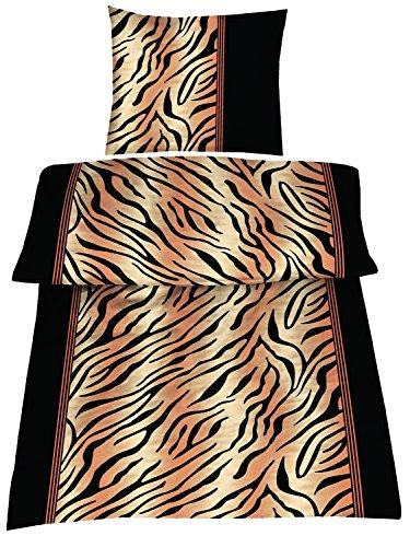 Dresscode 4 Teilige Bettwäsche Set 155 x 220 cm Teddy PLÜSCH Coral Fleece Cashmere Touch Super Soft Tiger Fell