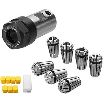 3.175mm 4mm 6mm grande pinza per utensile per tornio a fresatura CNC e macchina per incidere 3pcs ER11 CNC portautensile per tornio di fresatura a pinza 1//8 pollici