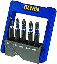 IRWIN Conjunto de Pontas de Impacto para Parafusadeira Power Bit Fenda Cruzada de 5 Peças 1865326