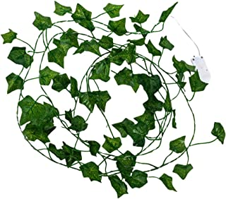 BESPORTBLE Fake Ivy Vine Light String with Green Leaves Hanging Plants String Light for Hotel Wedding Home Party Holiday L...