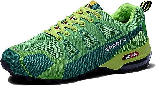 Snfgoij Bottes de randonnée pour Hommes, Chaussures de Trekking à Lacets, Chaussures de Marche. Chaussures de Course de Cross-Country
