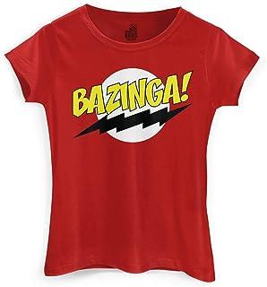 Camiseta Feminina The Big Bang Theory Bazinga! Clássica