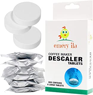 Descaler Tablets for Keurig Descaling Solution Nespresso Delonghi Tassimo Technivorm Moccamaster Jura and All Single Use Coffee and Espresso Machines (6 uses)