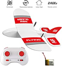 HIOTECH KF606 2.4Ghz RC Airplane Mini Indoor Flying Aircraft EPP Foam Glider Toy Airplane Built-in Gyro RTF Remote Control Toys Kids Gifts (KF606+1 Battery)