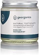 georganics Remineralizante Natural Aceite Coco Orgánico Pasta de dientes 60 ml - Inglés Hierbabuena