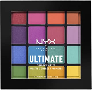 Paleta de sombras,Ultimate Shadow Palette, Nyx Professional Makeup, Tono Brights 13g