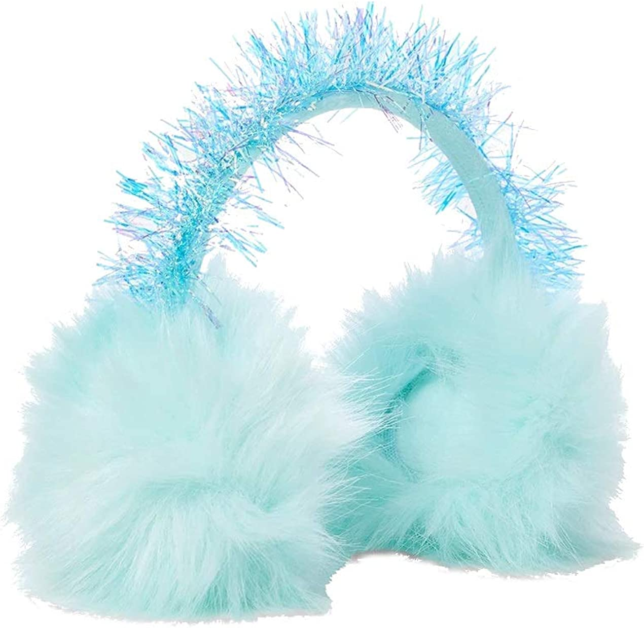 Justice For Girls Max 46% OFF Mint Faux Fur Earmuffs Quality inspection Tinsel PomPom