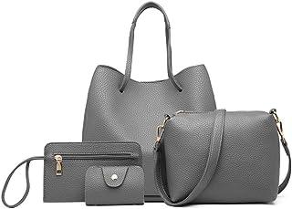 ميس لولو حقيبة للنساء-رمادي - مجموعة حقائب اليد