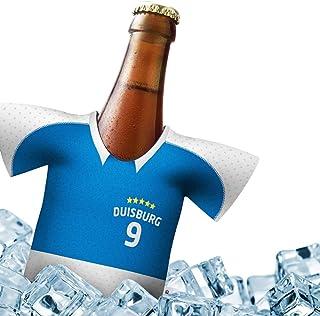 Alles fuer Duisburg-Fans by Ligakakao.de Mein Trikotkühler für MSV Fans | Eiskalter Biergenuss. Jedes Spiel. Jedes Tor. Jeden Moment | Fan-Edition für Zuhause | Home-Trikot Herren Bier Flaschenkühler & Fanartikel by ligakakao.de