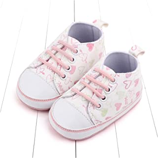 Baby Boys Girls Printed Canvas Sweet Anti-Slip Casual Sneakers Shoes Infant Crib Shoes (Color : A12, Size : 6-12 Months)