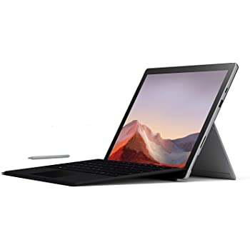 "New Microsoft Surface Pro 7 Bundle: 10th Gen Intel Core i5-1035G4, 8GB RAM, 256GB SSD (Latest Model) – Platinum with Black Type Cover and Surface Pen, 12.3"" Touch-Screen Pixelsense Display"