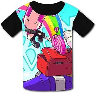 T-Shirt Short Sleeve Kids Tee Shirt Black Castle-Crashers Sport for Girls Boys