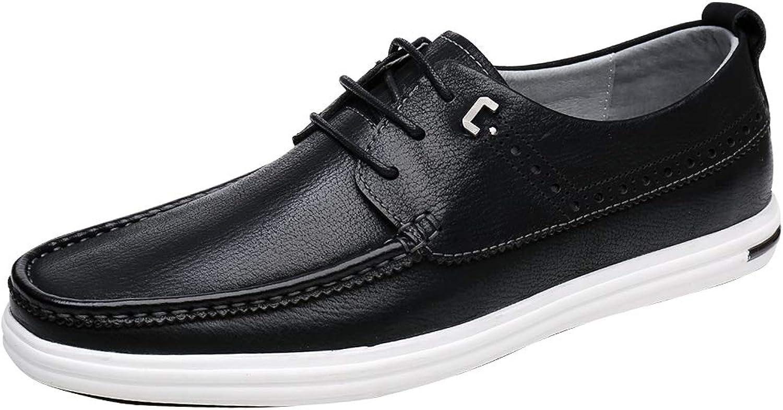 Cassa Leeni Herren Mokassin Lederschuhe Schnürhalbschuhe Klassische Business Schuhe mit Schnürsenkel