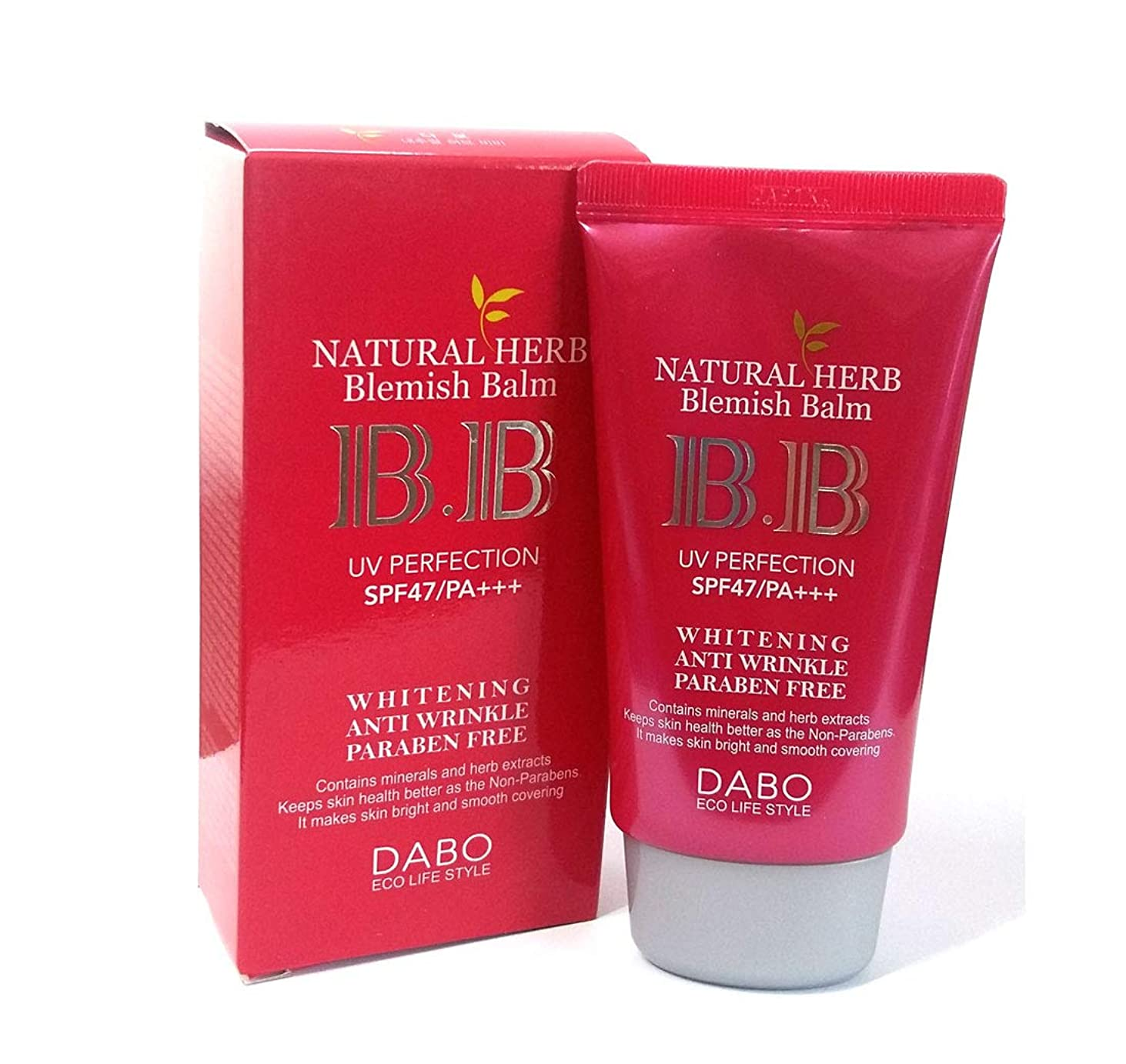 私たち自身安西わずらわしい[DABO] ナチュラルハーブBBクリーム50ml / Natural Herb BB Cream 50ml /SPF47 PA +++ / ホワイトニング、UVプロテクト/韓国化粧品/Whitening, UV Protect/Korean Cosmetics [並行輸入品]