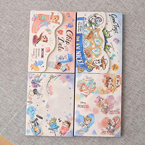 100 Pages/set New Cartoon Three Eyes Princess Notebook Cute Squirrel Diary Book Portable Notepad Sticker Toys Gift