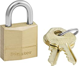Master Lock 120EURD klein sleutelhangslot van massief messing, goud, 3,4 x 2 x 1 cm