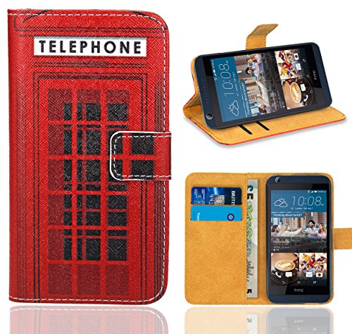 HTC Desire 626 626G Handy Tasche, FoneExpert® Wallet Hülle Flip Cover Hüllen Etui Ledertasche Lederhülle Premium Schutzhülle für HTC Desire 626 626G (Pattern 12)