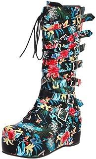 TAOFFEN Women Fashion Platform High Boots Platform Shoes