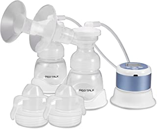 Double Electric Breast Pump, PEP TALK Feeding Pumps Pain Free, 4 Modes & 9 Levels, Backflow Protector, BPA Free, Strong Su...