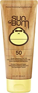 Sun Bum Original Moisturizing Sunscreen SPF 50 Lotion|Reef Friendly Broad Spectrum UVA/UVB Protection|Water Resistant & Non-Greasy Protection,Hypoallergenic,Paraben Free,Gluten Free|SPF 50 3 oz. Tube