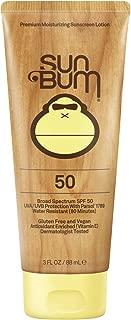 Sun Bum Original Moisturizing Sunscreen SPF 50 Lotion|Reef Friendly Broad Spectrum UVA/UVB Protection|Water Resistant & Non-Greasy Protection,Hypoallergenic,Paraben Free,Gluten Free|SPF 50  3 oz. Tube