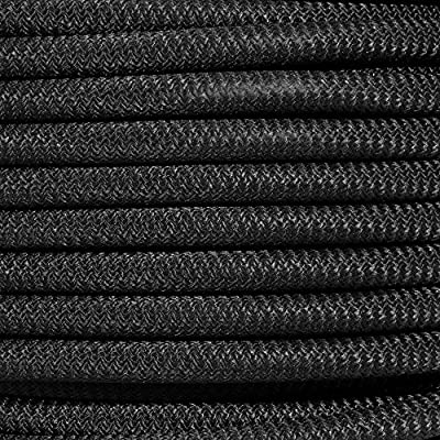 """PARACORD PLANET Black Diamond Weave Shock Cord - Available in 1/8"""", 3/16"""", 1/4"""", 3/8"""", 1/2"""", and 3/4"""" Diameters - Various Lengths"""