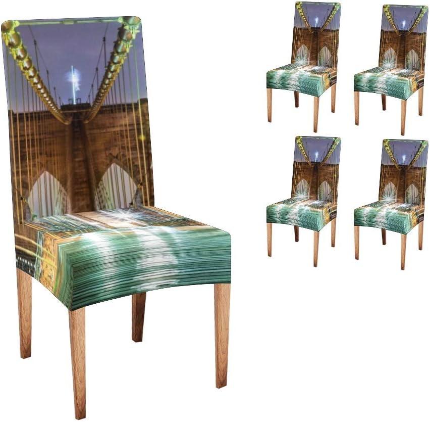 超激安特価 Anneunique Chair Covers for Dining Brooklyn 卓抜 Custom Br Room Empty