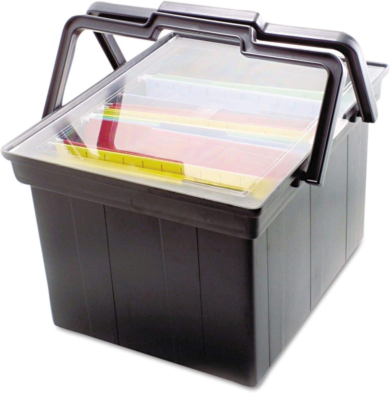 Companion Portable File ※ラッピング ※ Storage Box 日時指定 Letter Plastic Legal Blac