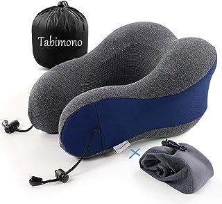 [Tabimono] ネックピロー U型 ダブル枕カバー 首枕 メモリーフォーム 高密度 低反発 携帯枕 洗えるカバー トラベル枕 旅行用品