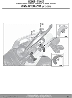 Givi 1109KIT Anbaukit für Träger PLX1109 / PL1109 / TE1109, Schwarz, 40