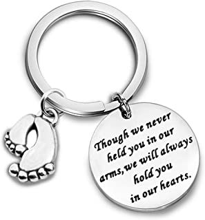 Sympathy Gift for Loss of a Loved One Baby Loss Remembrance Jewelry Miscarriage Keyring Baby Memorial Gift Hold You in My Heart