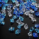 150 Cubos de Hielo Acrílicos Cubitos de Hielo Falsos Rocas de Hielo Triturado de Plástico 1 Pulgada Diamantes Cristales Gemas para Rellenos Jarrón, Dispersión de Mesa, Boda (Color Mixto)
