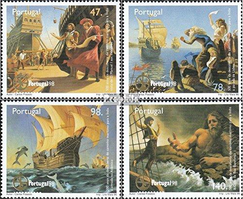 Prophila Collection Portugal 2160-2163 (kompl.Ausg.) 1996 Entdeckung Seeweg nach Indien (Briefmarken für Sammler) Seefahrt