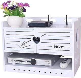 Estante flotante Estante para televisor Estante de almacenamiento en la pared Caja de almacenamiento de enrutador Wifi ina...
