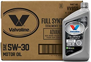 Valvoline Advanced Full Synthetic SAE 5W-30 Motor Oil 1 QT, Case of 6