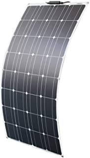 フレキシブルソーラーパネル 100W単結晶ソーラーチャージャー太陽光発電パネル セミフレキシブル ポータブル バッテリーソーラー充電器 (100w ソーラーパネル)