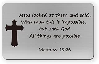 Christian Wallet Card With God All Things Are Possible Wallet Insert Card Religious Gift