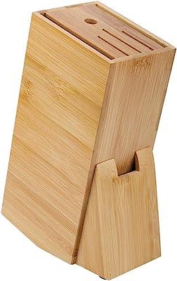 Salinr 磁気包丁立て キッチン収納 ナイフブロック ナイフホルダー竹 包丁立て スタンド 出刃包丁 木製 包丁 スタンド 滑り止め 抗菌 防カビ 加工