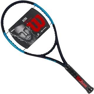 Wilson Ultra 105S CV (Countervail) Blue/Black Extended Midplus 16x15 Tennis Racquet Strung Custom String Colors (Best Racket Power Spin)