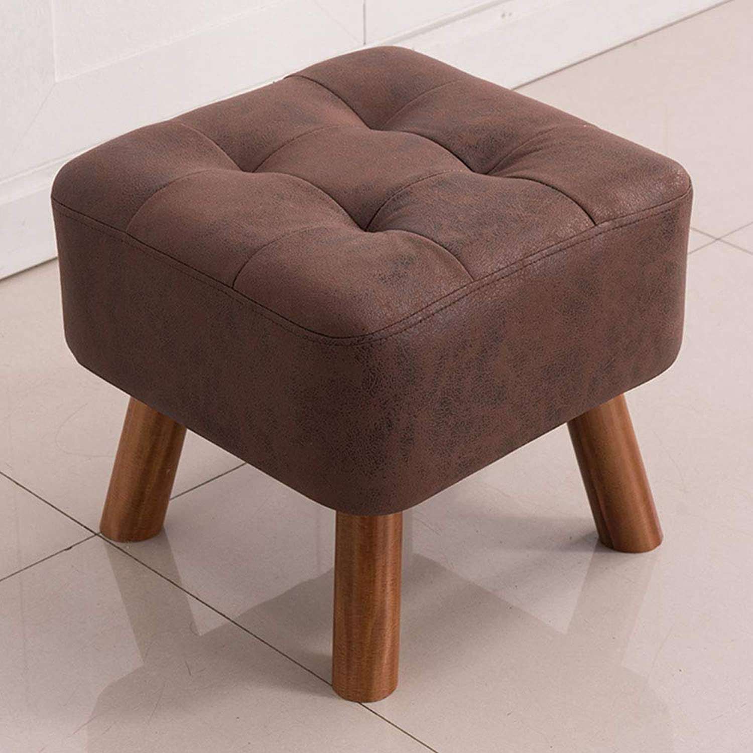 LJJL Stool, Change shoes Stool Solid Wood Stool Stool Sofa Bench Coffee Table Sitting Pier Dressing Stool 3 colors 15.7 ×15.7 ×12.6  (color   B)