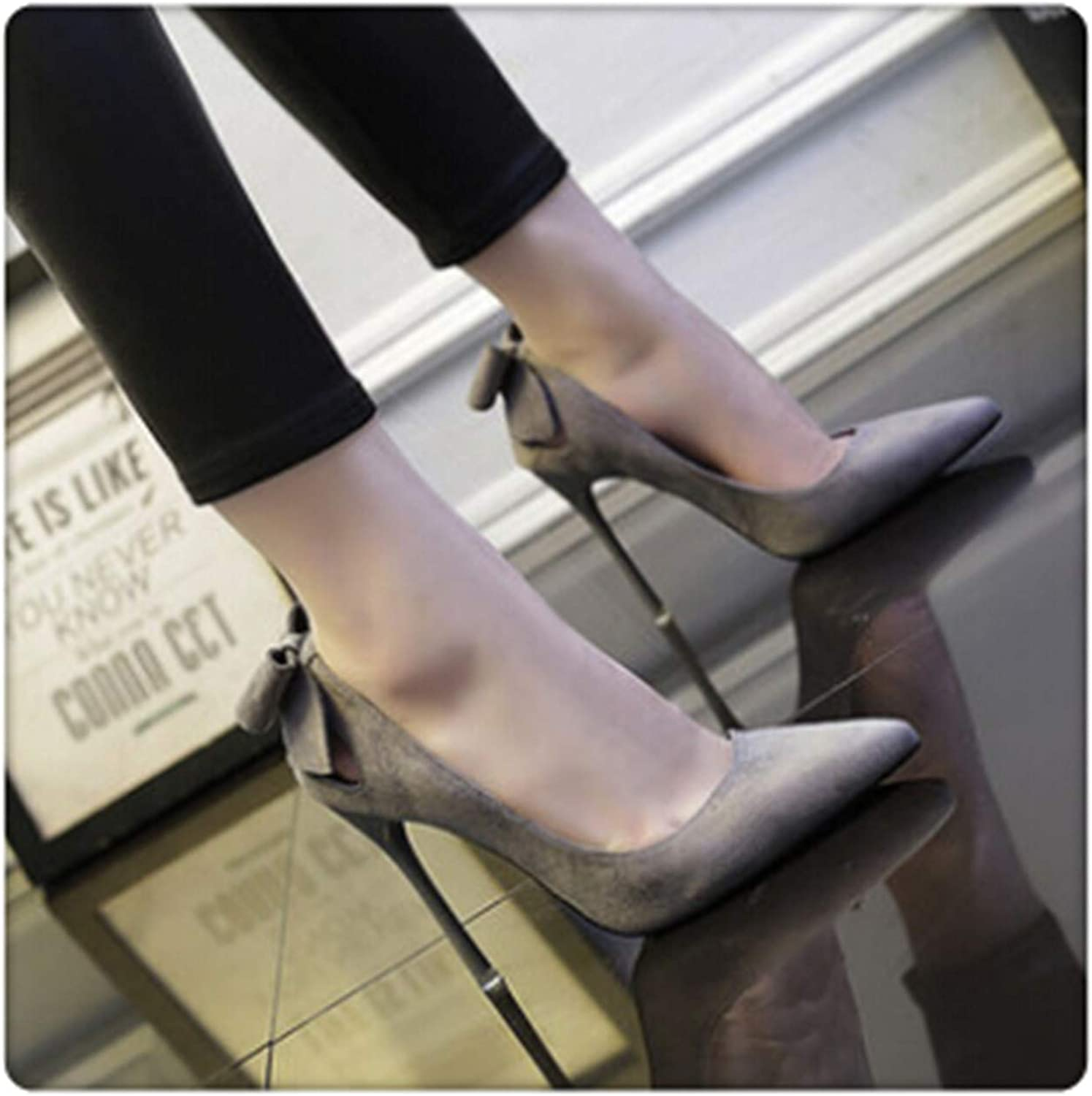 DOUSTY& Sexy High Heels Wedding Pumps shoes Elegant Flock Party Dress Pointed Toe