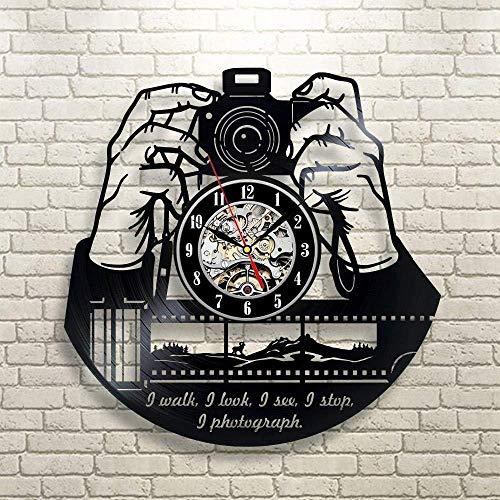 JLCK Reloj de Pared de Vinilo para fotógrafos