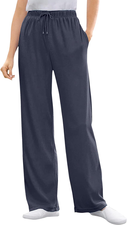Woman Within Women's Plus Size Sport Knit Straight Leg Pant